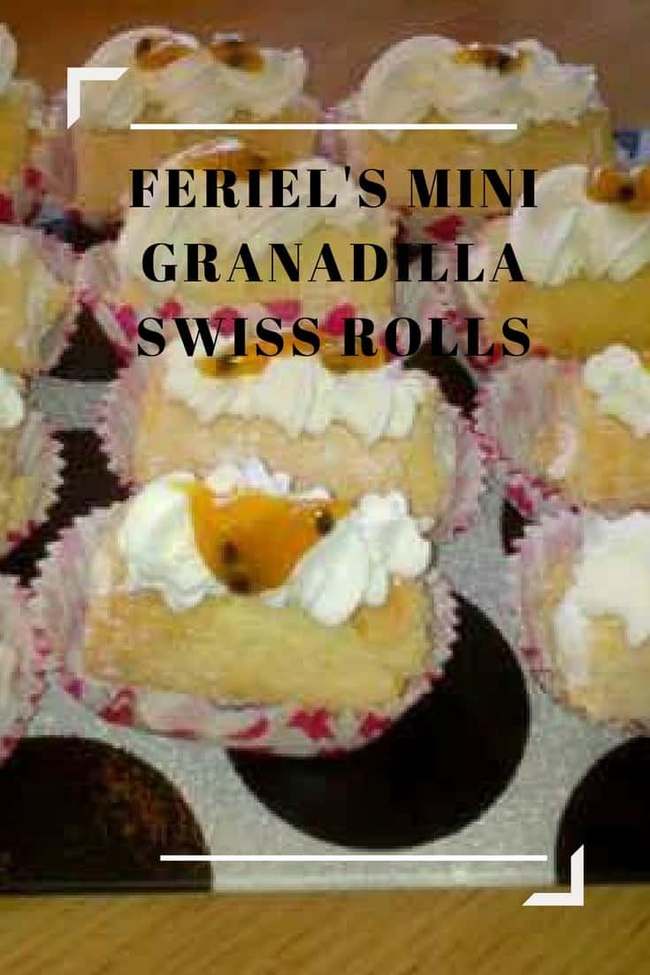 Feriel's Mini Granadilla Swiss Rolls