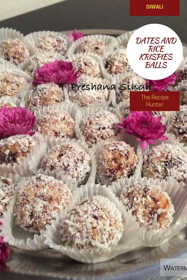 Preshana's Dates and Rice Krispies Balls