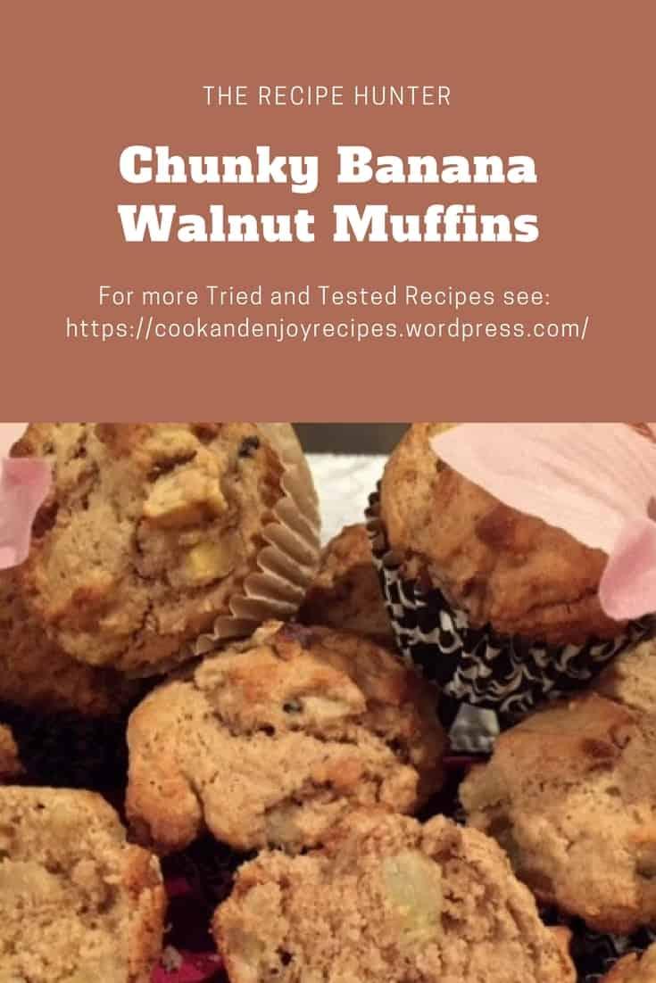 Chunky Banana Walnut Muffins
