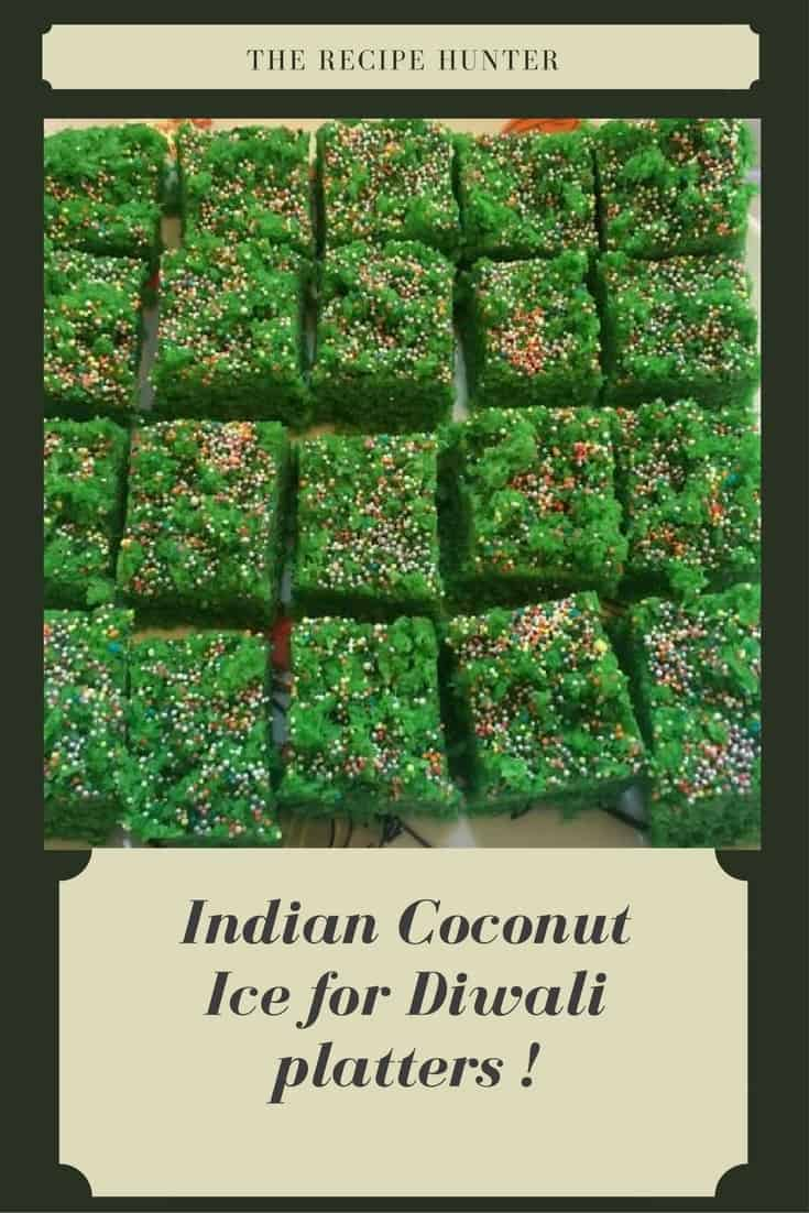 Indian coconut ice