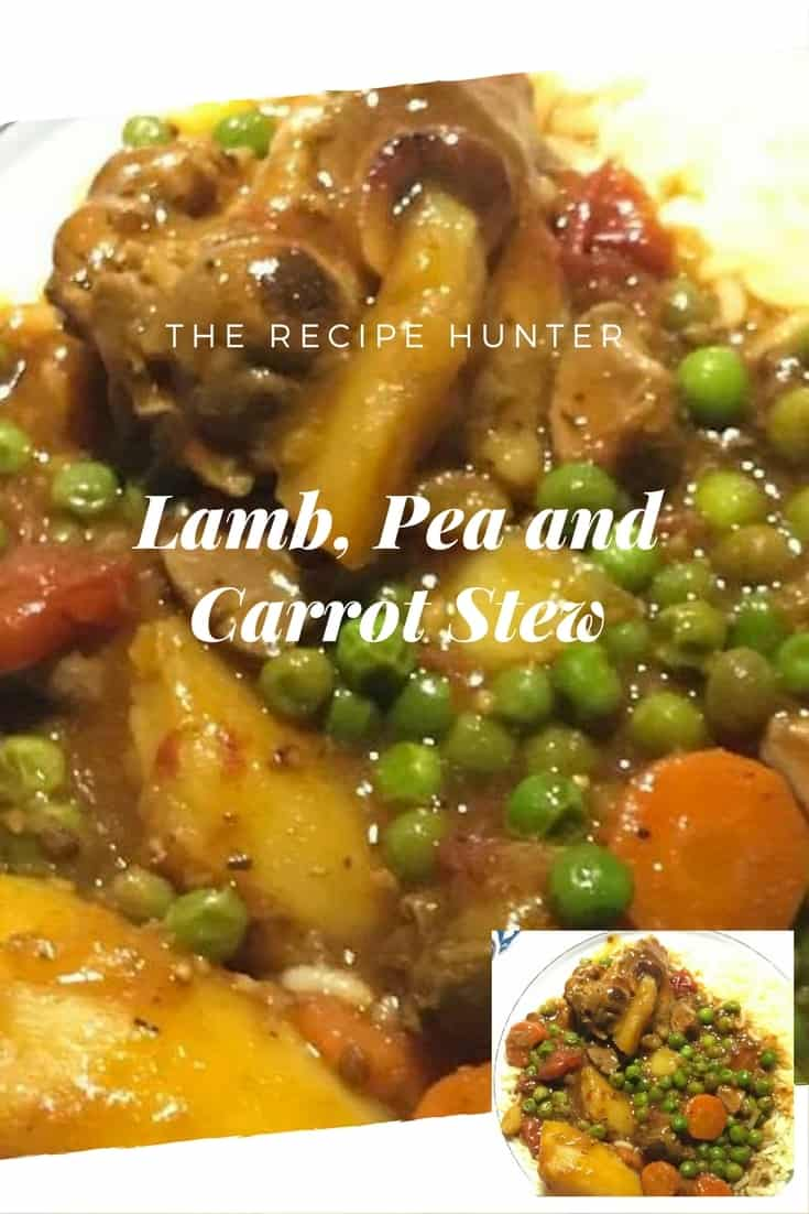 Melanie's Lamb, Pea and Carrot Stew