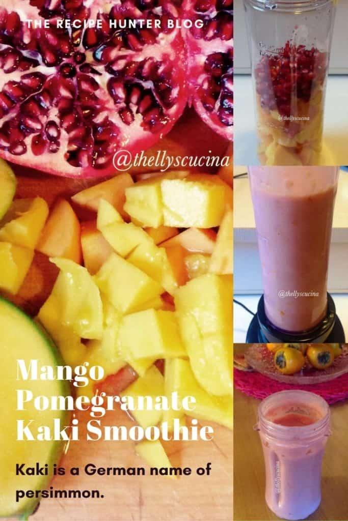 Mango Pomegranate Kaki Smoothie