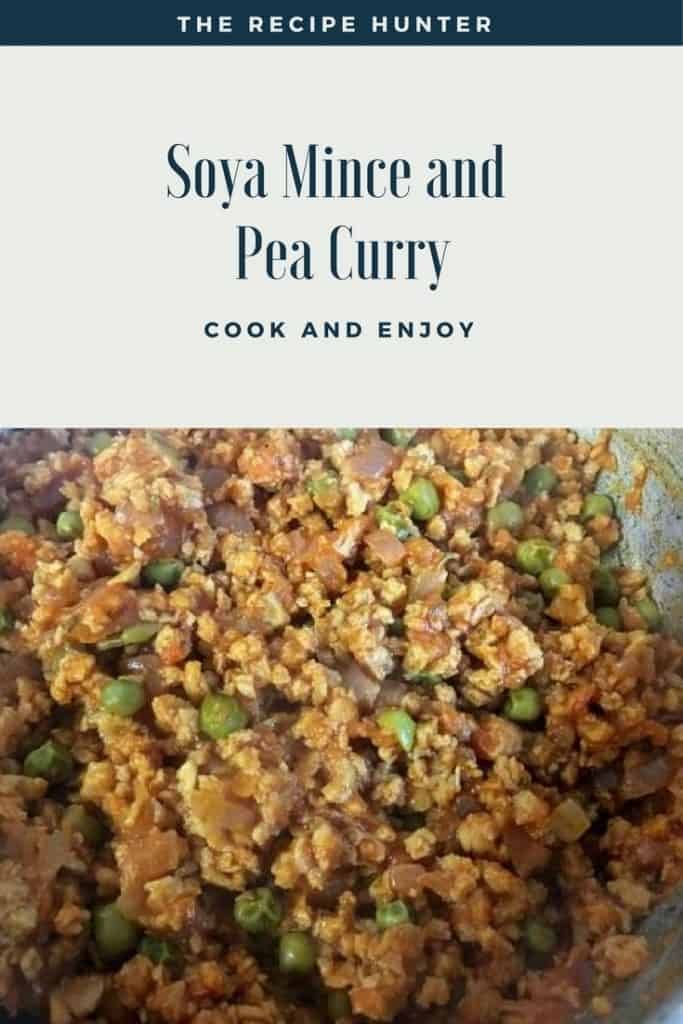 Soya Mince and Pea Curry