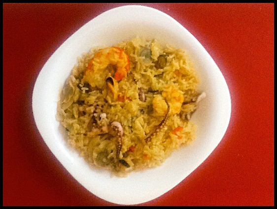 Spanish Paella Rice with seafood