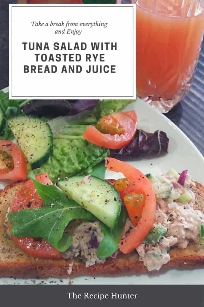 Tuna Salad with Toasted Rye Bread