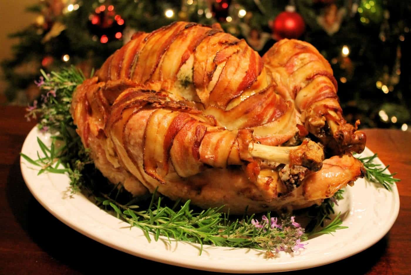 Guest: A Maple-Glazed, Bacon-Wrapped Turkey For Thanksgiving!