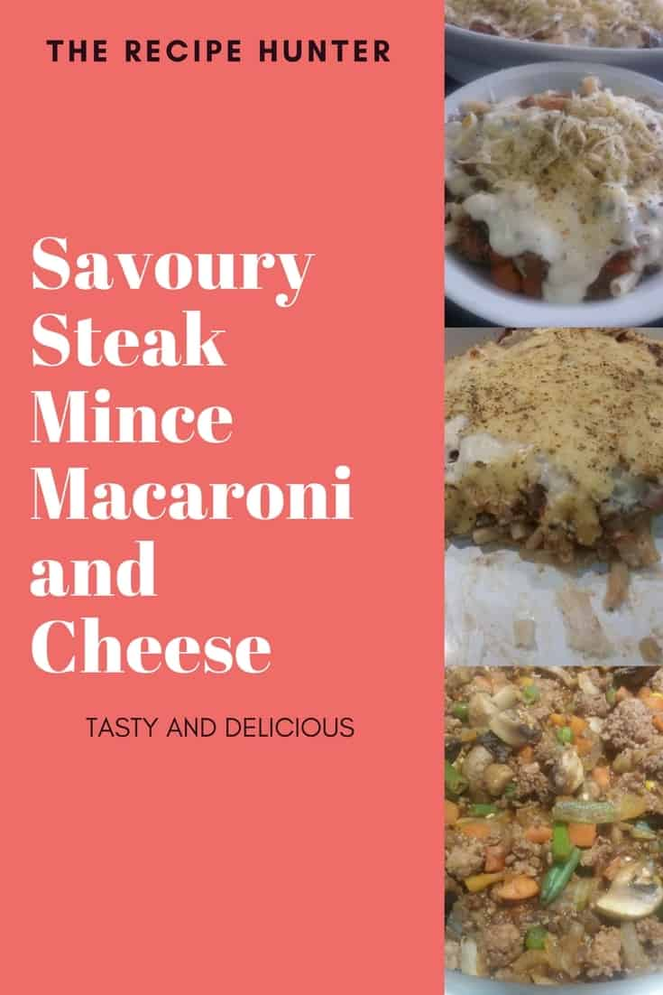 Savoury Steak Mince Macaroni and Cheese