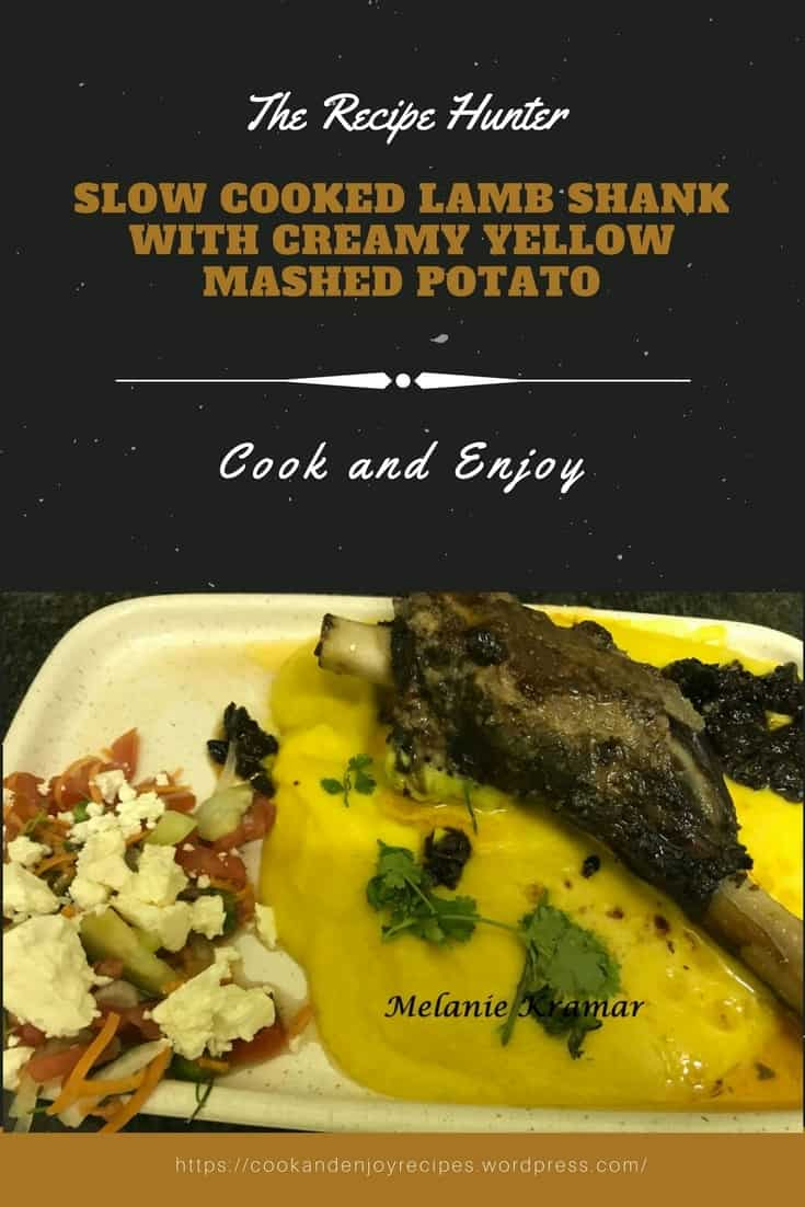 Melanie's Slow Cooked Lamb Shank with Creamy Yellow Mashed Potato