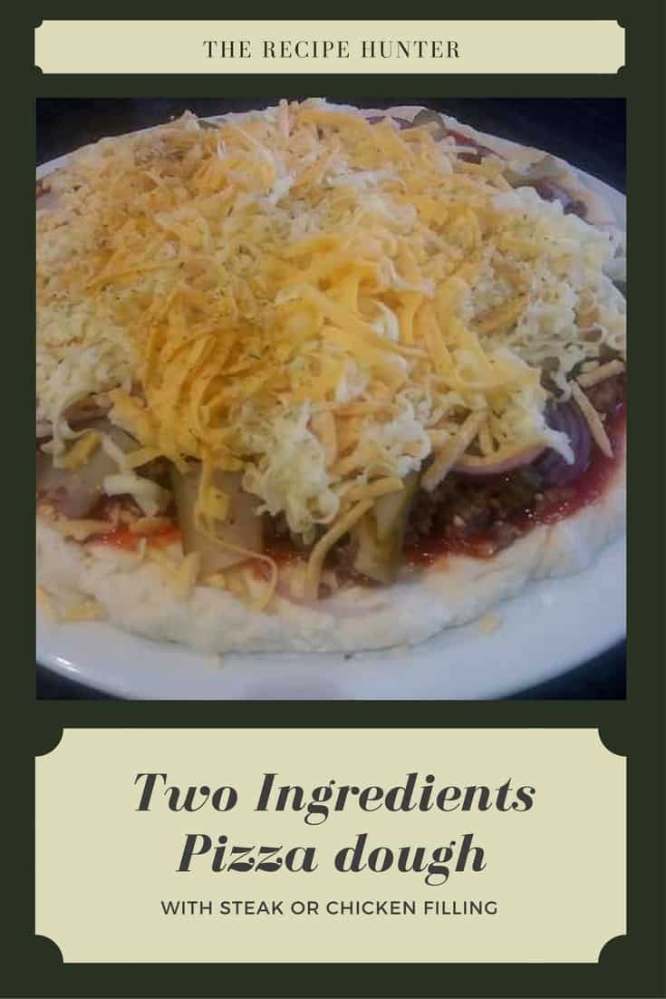 Two Ingredients Pizza dough