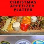 Christmas Appetizer Platter for Vegans