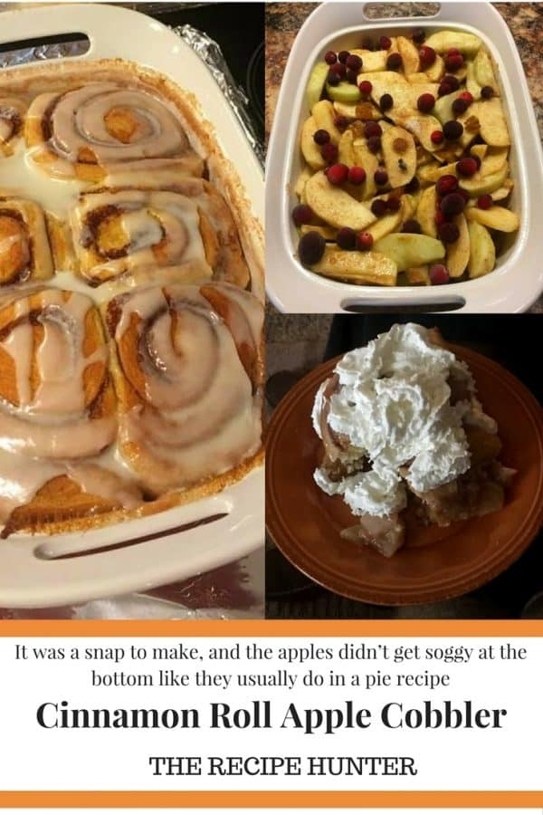 Colleen's Cinnamon Roll Apple Cobbler