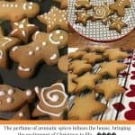 Festively decorated Ginger biscuits