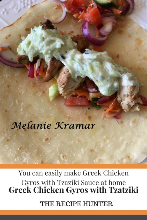 Melanie's Greek Chicken Gyros with Tzatziki