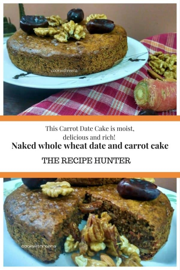 Reena's Naked Whole Wheat Date and Carrot Cake