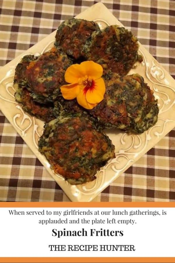 Dee's Spinach Fritters