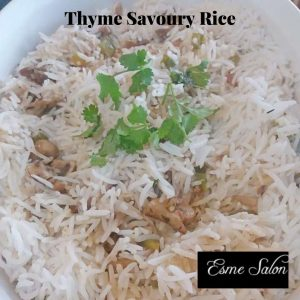 Bowl of Thyme savory rice
