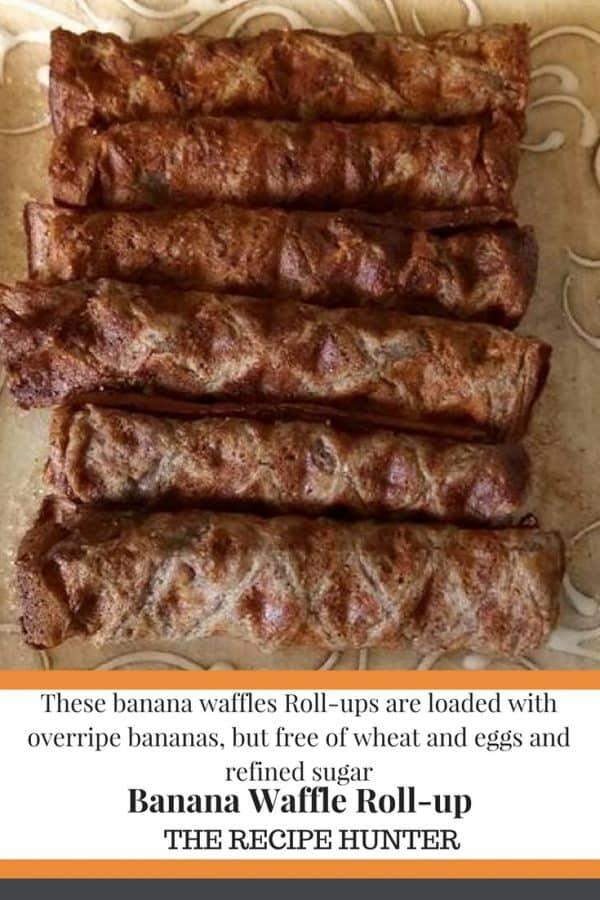 Banana Waffle Roll-up