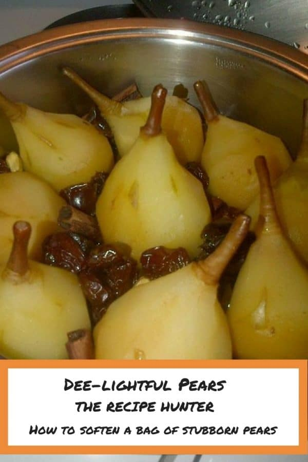 Delightful cooked Pears