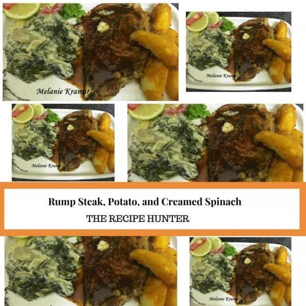 Rump Steak, Potato and Creamed Spinach