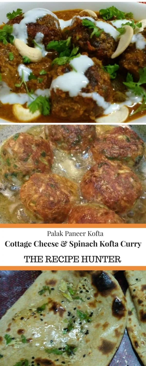 Cottage Cheese & Spinach Kofta Curry