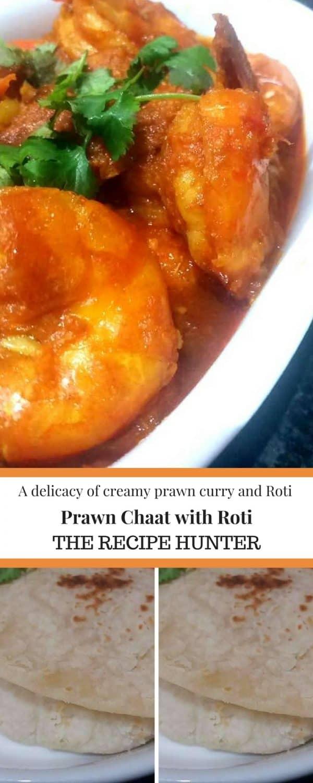 Prawn Chaat with Roti