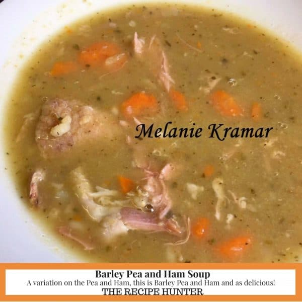 Barley Pea and Ham Soup