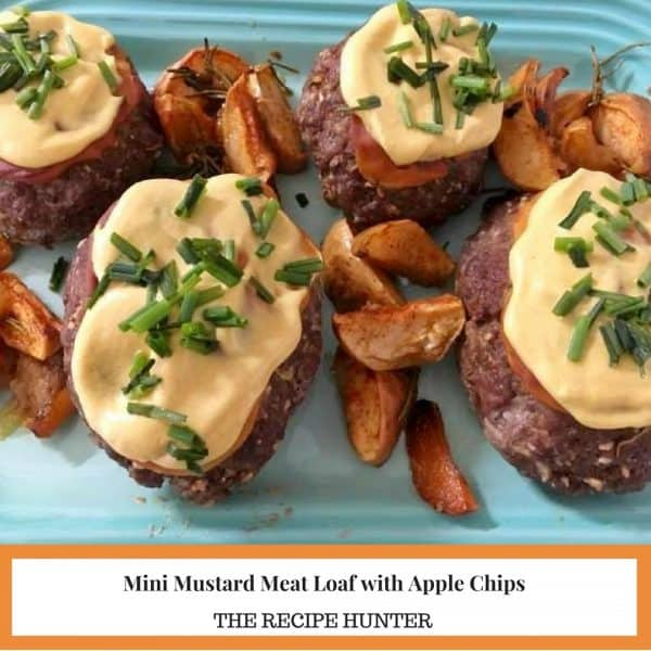 Mini Mustard Meat Loaf with Apple Chips