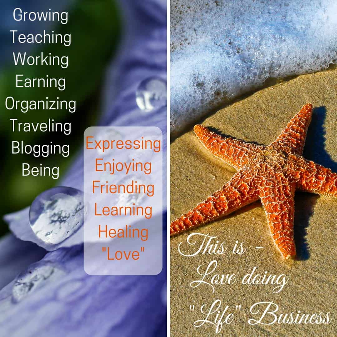 Diagram with Starfish on sand raindrops sharing post topics