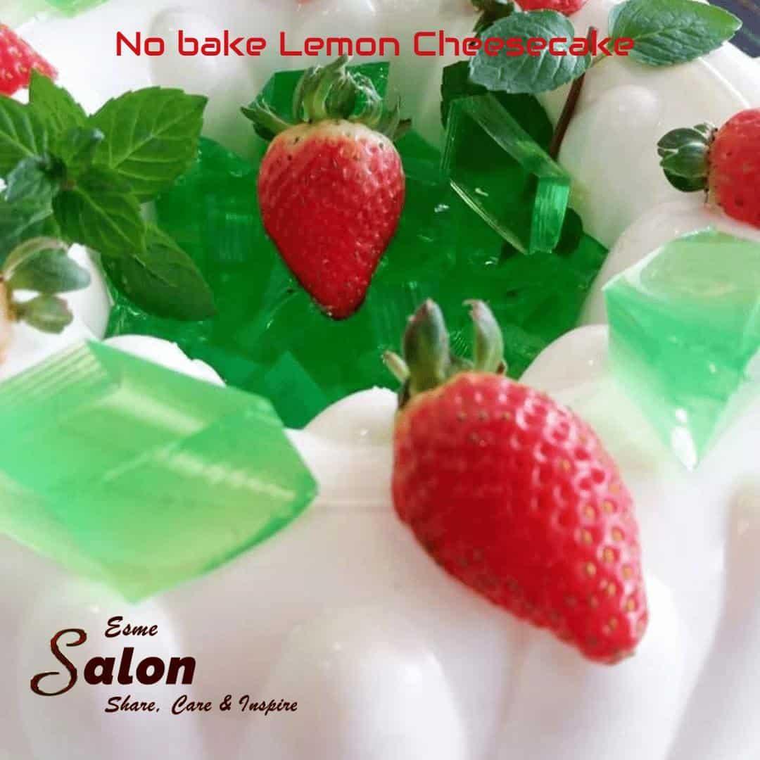 Easy Home-made Tried Tested No-bake Lemon Cheesecake