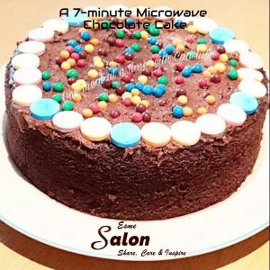 A 7-minute Microwave Chocolate Cake