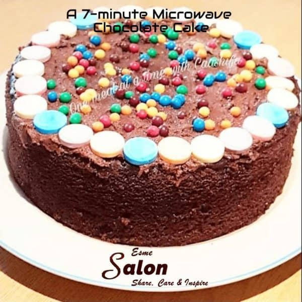 A Super Quick 7-minute Microwave Chocolate Cake