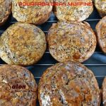 Homemade delicious healthy Aquafaba Bran Muffins
