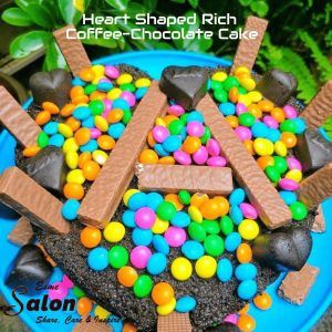 Heart Shaped Rich Coffee-Chocolate Cake