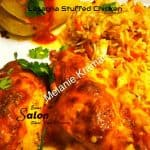 Lasagna Stuffed Chicken smothered in cheese sauce
