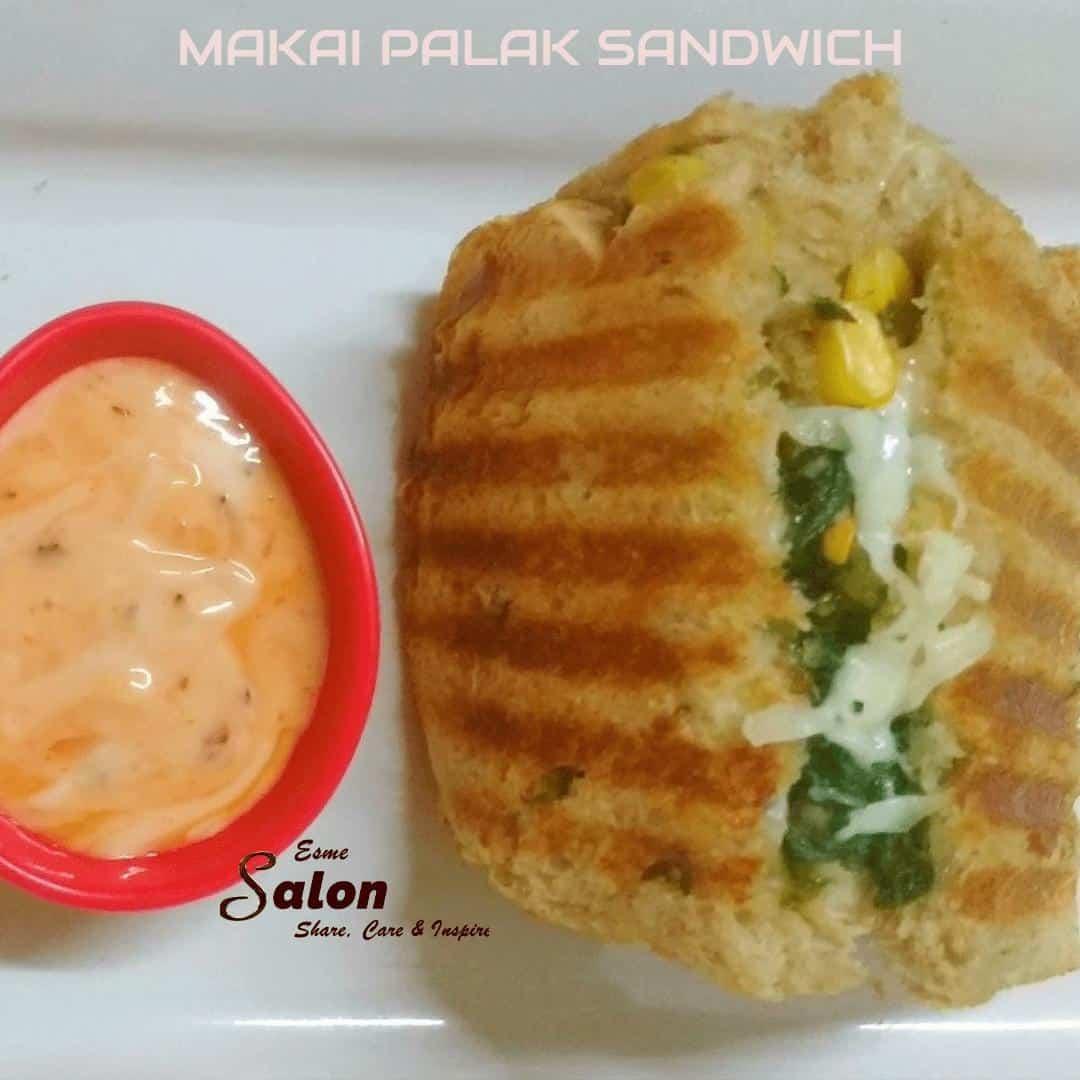 Makai Palak Sandwich