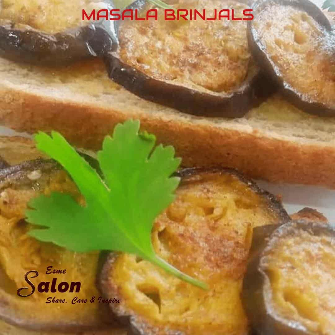 Masala Brinjals on Seeded Low GI Brown Bread