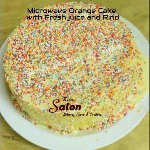 Microwave Orange Cake with Fresh juice and Rind