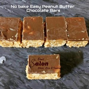 No bake Easy Peanut Butter Chocolate Bars
