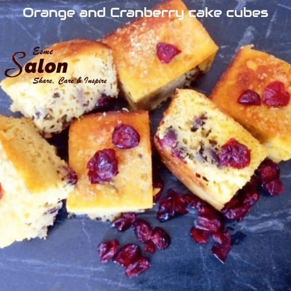 Coconut Flour Orange and Cranberry Cake