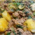 Steak Mince with Baby Zucchini and Sweet Potatoes