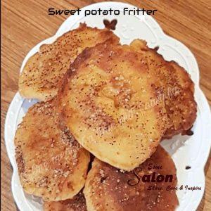 Sweet potato fritter