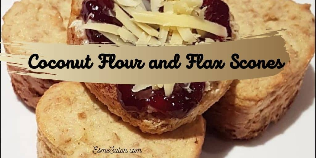 Heart shaped Coconut Flour and Flax Scones with Sugar Free Jam
