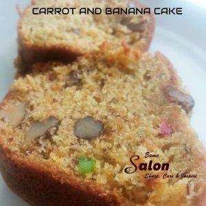 CARROT AND BANANA CAKE