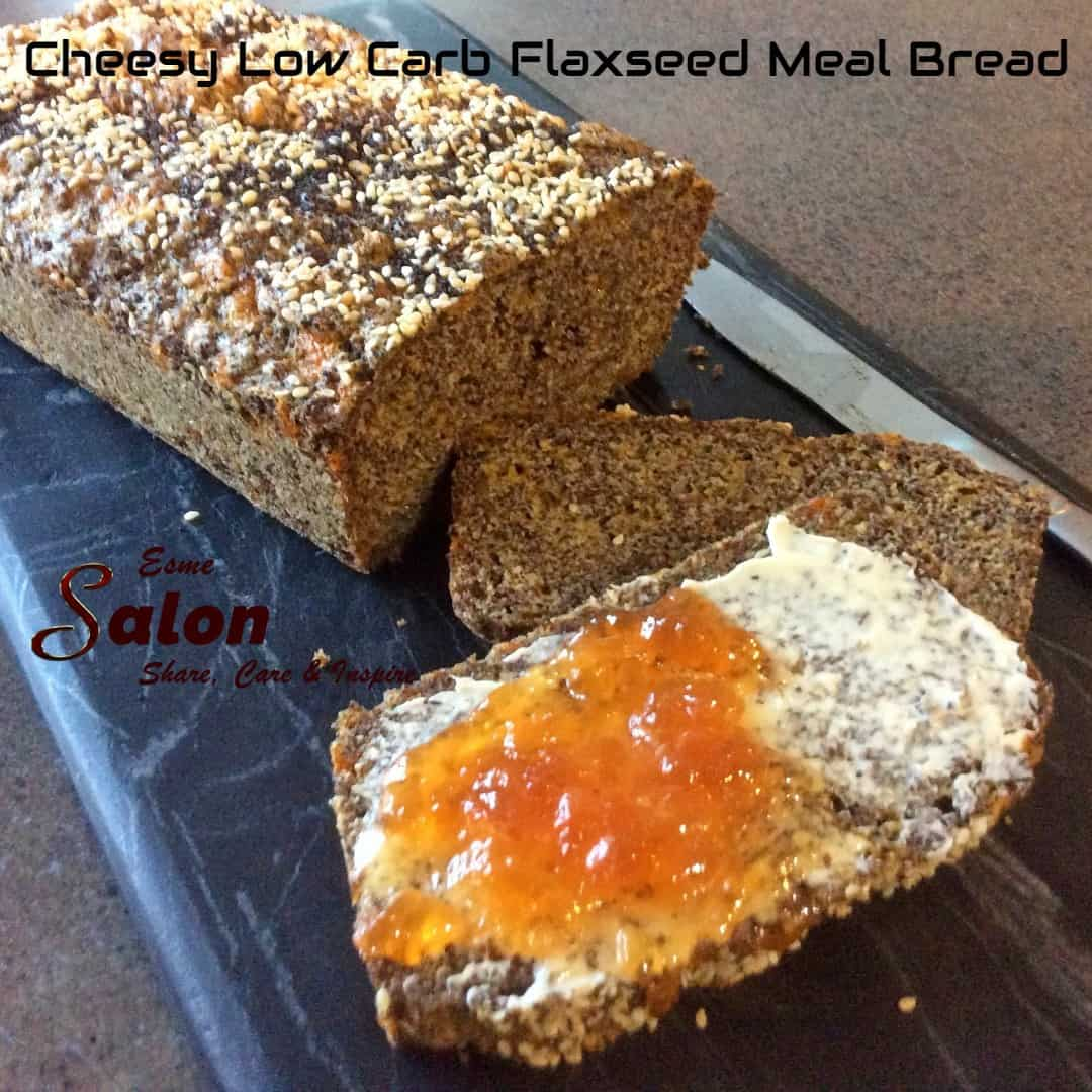 Cheesy Low Carb Flaxseed Meal Bread