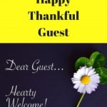 Welcome guest note