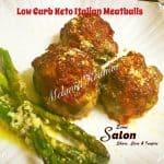 Keto Low Carb Keto Italian Meatballs