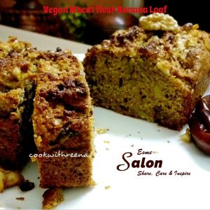 Vegan Wheat flour Banana Loaf