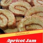 Apricot Jam Swiss Roll slices