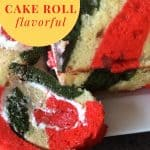 Mint Flavored Christmas Cake Roll