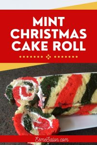 Colorful and Mint flavored Christmas Cake Roll
